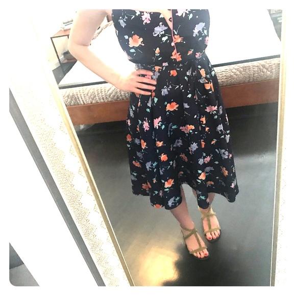 Vintage Dresses & Skirts - Vintage (70s?) floral sun dress